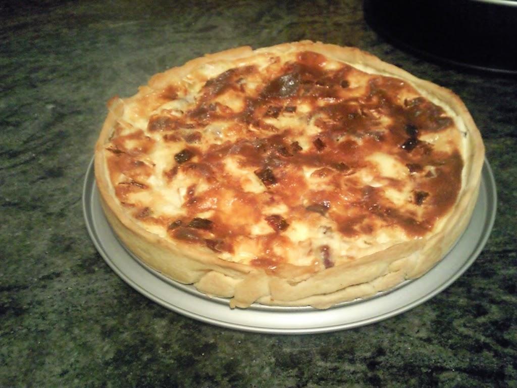 Quiche de cecina y queso de cabra tarta salada Cocinar queso de cabra