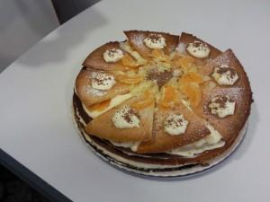 Tarta de mandarina y nata: (Espectacular)