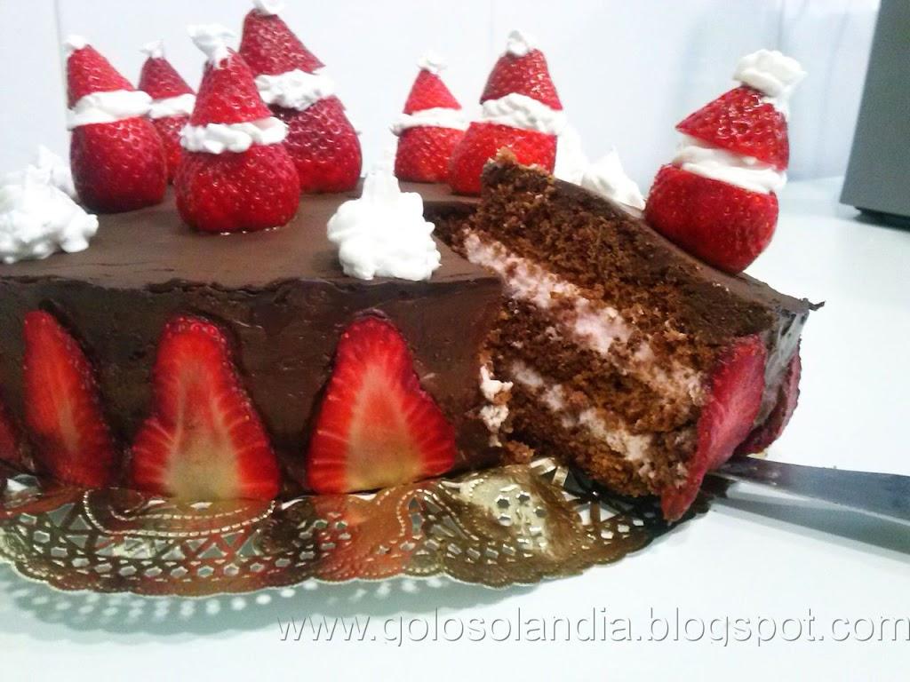 Tarta de chocolate y fresas (receta casera paso a paso)